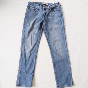 Levi's slim skinny light wash jeans